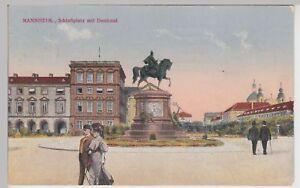 114107 Schlossplatz Ak Mannheim Denkmal 1924 Noch Nicht VulgäR