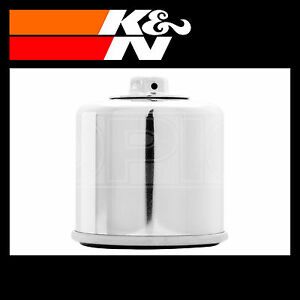 K-amp-N-Oil-Filter-Powersports-Chrome-Finish-Oil-Filter-KN-138C
