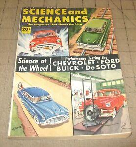 SCIENCE and MECHANICS (Aug 1952) Good+ Condition Magazine - DeSoto ++ Car Cover