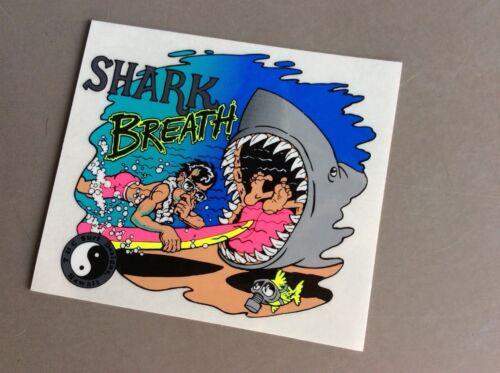 Vintage 80/'s original T/&C   Shark Breath  sticker    NOS