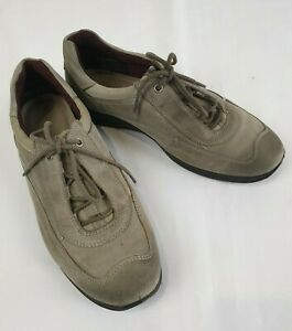 Ecco-Olive-Green-Comfort-Sneaker-Shoes-Size-38