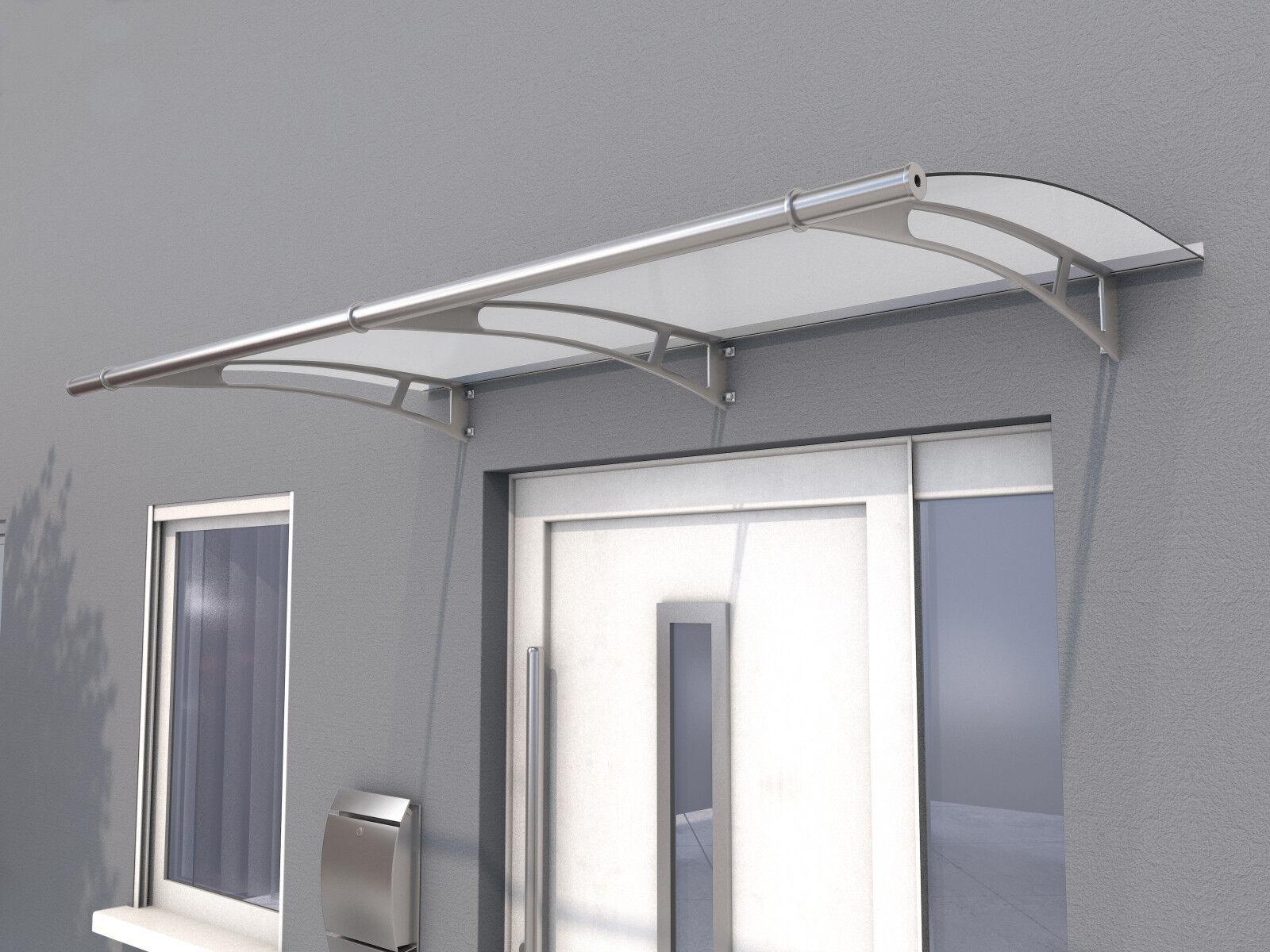 Gutta Pultvordach PT/L 190 satiniert weiß - Haustürvordach 190 x 95 cm Acrylglas