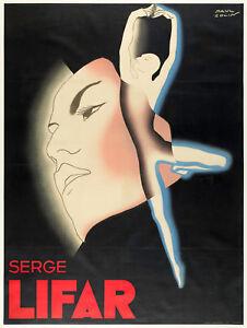 Original-Art-Deco-Poster-Paul-Colin-Serge-Lifar-danse-ballet-russe-1935