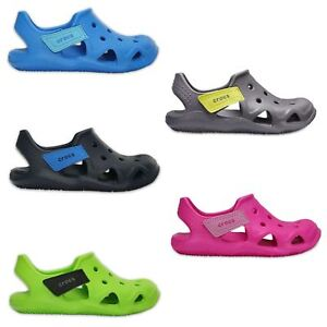 5c3749797ced Image is loading Crocs-Kids-Swiftwater-Wave-Relaxed-Fit-Clogs-Sandals-
