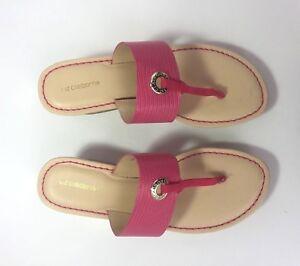 d654159e3e9d Liz Claiborne pink LIVELY Wedge Womens Sandals Cork T STRAP Size 7 ...