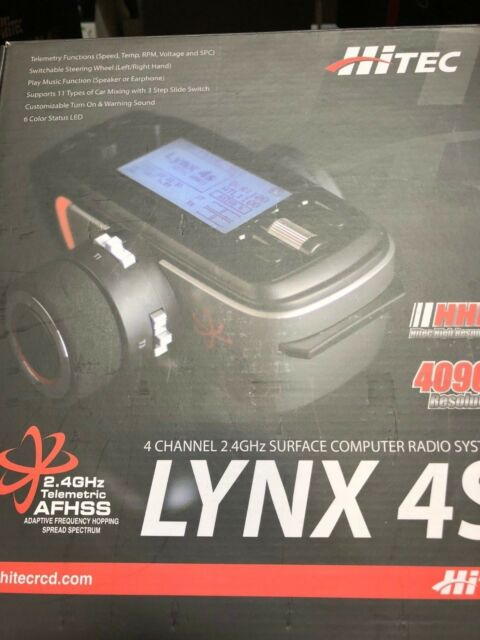 Hitec RCD - Lynx 4s 2.4ghz Transmitter, Axion 2 Receiver