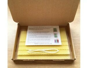 Mechas /& Kit de elaboración de cera de abejas vela 5 Hojas De Cera De Abejas-Cera de color instrucciones