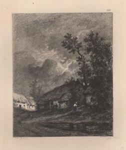 Jules-Dupre-Chaumieres-pres-Cayeux-Eau-Forte-Gustave-Greux-XIXe