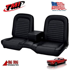 Remarkable Details About 1966 Ford Mustang Black Front And Rear Bench Seat Upholstery Made In Usa By Tmi Ibusinesslaw Wood Chair Design Ideas Ibusinesslaworg