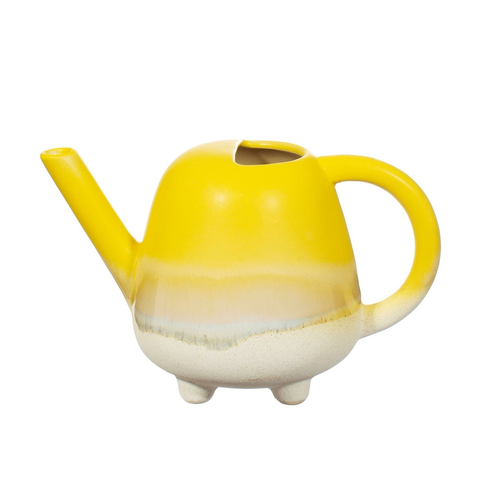 Yellow Ombre Glaze Mini Watering Can