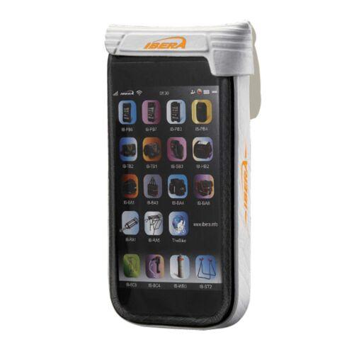 "Ibera Waterproof 4/"" Smartphone Case With Q4 Adjustable Stem Mount White"