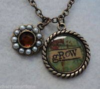 D Grow Faux Pearl Crystal Kelly Rae Roberts Charm Necklace Jewelry 19 - 22