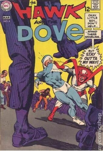 Hawk and Dove #4 VG 4.5 1969 Stock Image Low Grade