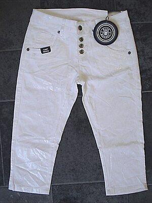 Vendita Professionale Blue Monkey Capri Pantaloni Doro 1911 Bianco Luxury W 26 27 28 29 30 31 Strech-mostra Il Titolo Originale Merci Di Alta Qualità