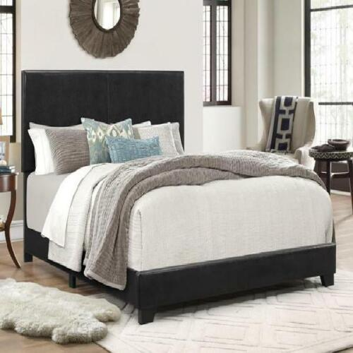 Color Bed Frame Platform Faux Leather Upholstered Headboard Bedroom Multi Size