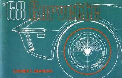 1968 Chevrolet Corvette Owners Manual User Guide Reference ...