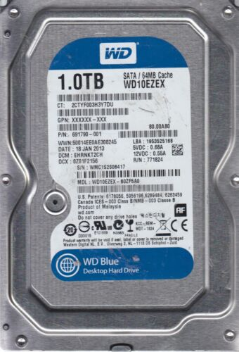 WD10EZEX-60ZF5A0 DCM EHRNKT2CH Western Digital 1TB SATA 3.5 Bsectr HDD