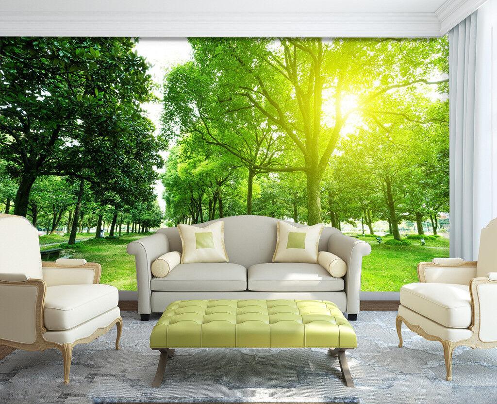 3D Sunlight Lawn 4 Wallpaper Murals Wall Print Wallpaper Mural AJ WALL UK Summer