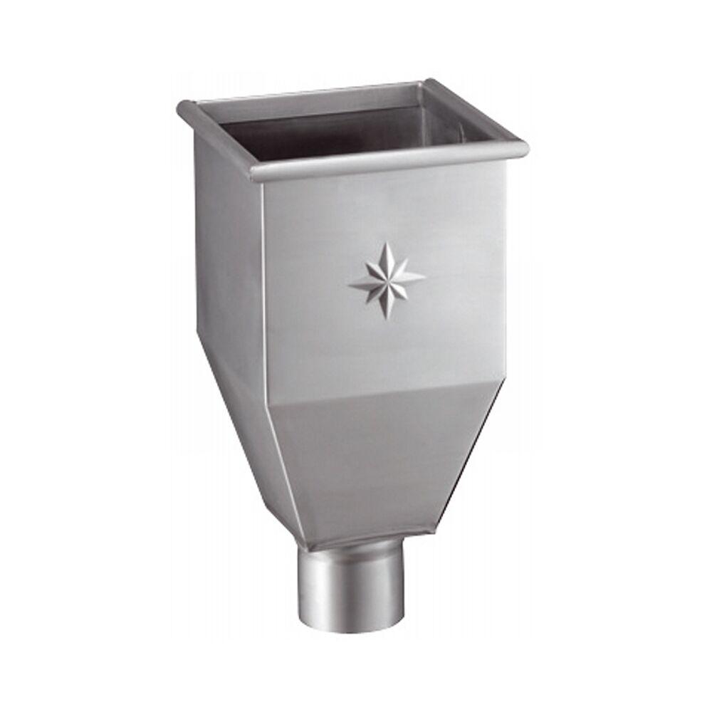 Grömo Zink Wasserfangkasten lang für Fallrohr DN 120