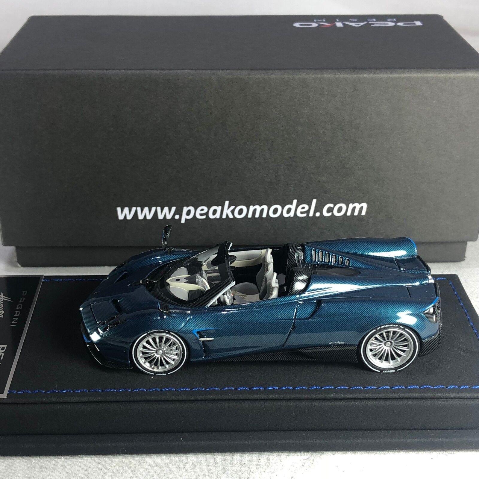 1/43 Scale Peako Model Pagani Huayra Roadster Blue Carbon