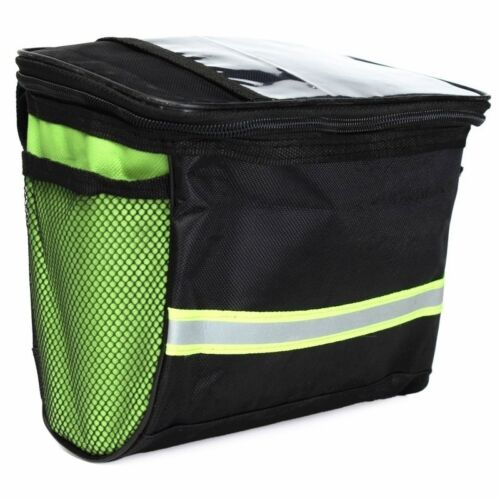 Cycling Bicycle Handlebar Front Frame Tube Bag Pouch Case Basket Pannier EA7Z