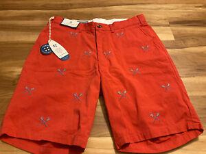 Castaway-Nantucket-Men-039-s-Shorts-Lacrosse-Mens-Size-33-New-W-Tags
