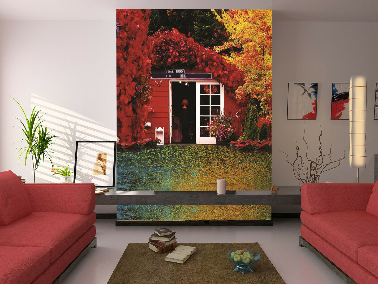 3D Maple Leaves 4 Wallpaper Murals Wall Print Wallpaper Mural AJ WALL AU Lemon