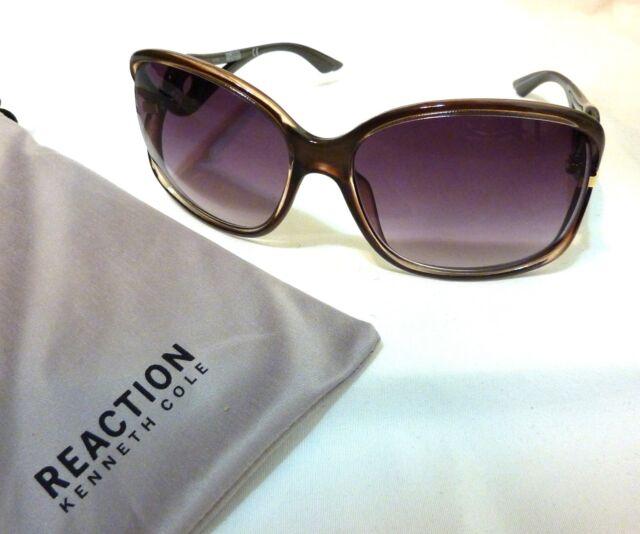 5d592fe677 Kenneth Cole Reaction KC1232 Women s Square Sunglasses 6150B-150 BROWN ...
