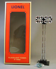 LIONEL FLOODLIGHT TOWER ILLUMINATED 8 blubs train track lighting NEW 6-14092 NEW