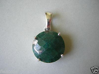 Loose Gemstones 925 Silber Anhänger Mit Facettiertem Natürlichen Smaragd 5,6 G/2,8 X 1,6 Cm Discounts Price