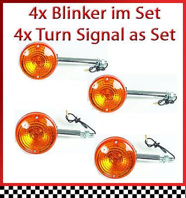 4 Stk. Blinker im Set für Suzuki GS 550 /D - GS550 - Bj. 77-79