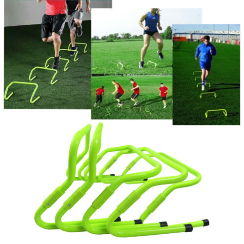 """6/"""" Speed /& Agility Fitness Training Hurdles Aid jump with Adjustable Height 5PCS"""