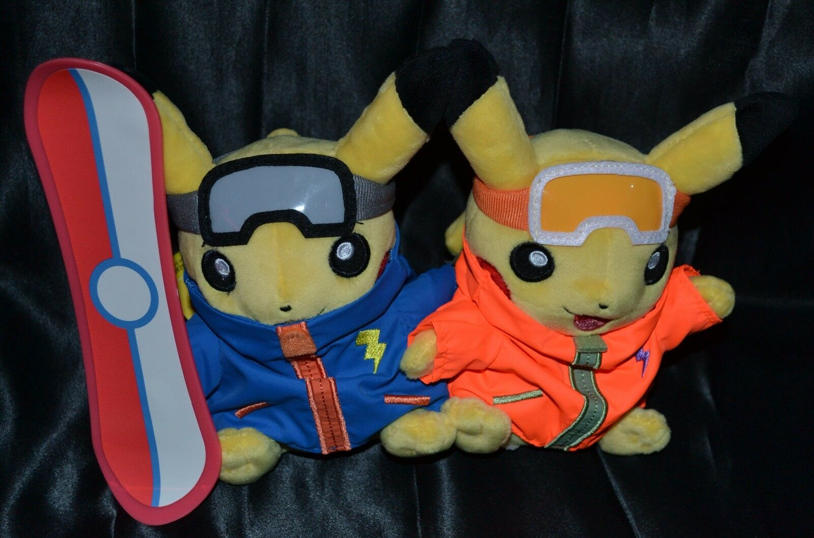 9.5  Paired Pikachu Celebrations  Snowboarder Plush Pokemon Center Dolls Toys