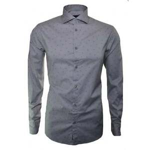 Le Logo Jeans Casual Camicia Taglie Da Tutte Armani Aquila Grigio Sparsi Uomo 4Cqx0wv