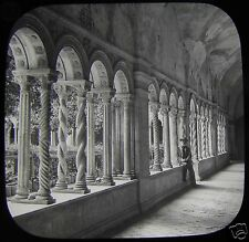 Glass Magic Lantern Slide THE CLOISTERS OF ST PAULO C1890 ROME ROMA SAINT PAUL