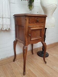 GORGEOUS-LARGE-ANTIQUE-FRENCH-MARBLE-TOPPED-POT-CUPBOARD-C1900