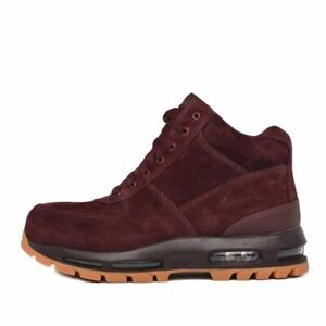 new styles 9d79f e4509 Image is loading NIKE-AIR-MAX-GOADOME-ACG-SUEDE-BURGUNDY-BLACK-