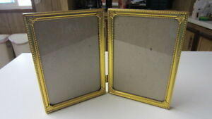 Art Deco Metal Patterned & Ornate Corner Double 5 in. x 7 in. Picture Frame, #1