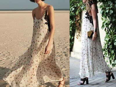 Zara Studio Maxi Vestito Fiori Pizzo lungo Floreale Stampato Size S M 2698797 | eBay