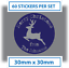 60 x Personalised Merry Christmas Reindeer Stickers Card Labels Seals 30mm blue