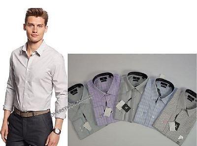 NEW MEN'S CALVIN KLEIN SLIM FIT NON IRON 100% COTTON DRESS SHIRT VARIETY! $79.50