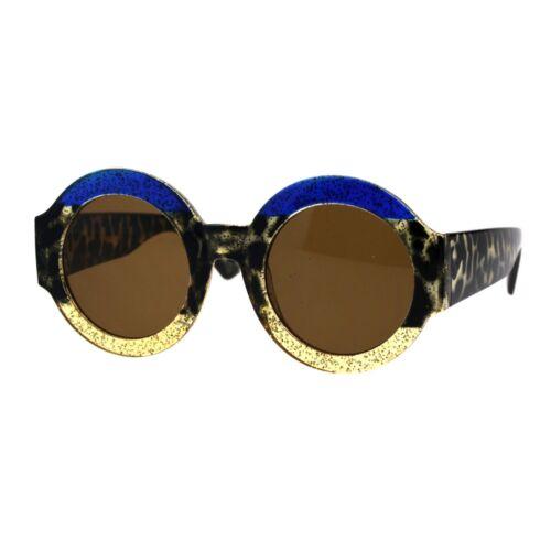 Thick Round Circle Frame Sunglasses Womens Stylish Chic Shades UV 400
