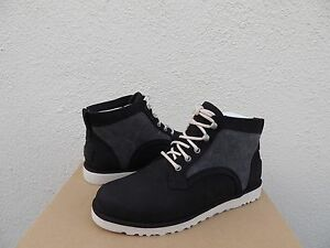 f2ff805acc2 Details about UGG BETHANY CANVAS BLACK NUBUCK LEATHER/ SHEEPWOOL BOOTS, US  8/ EUR 39 ~ NIB