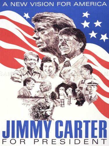 PROPAGANDA PRESIDENT ELECTION CARTER DEMOCRAT USA ART POSTER PRINT LV6995