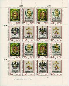 Germany-GDR-DDR-R-d-a-1990-Mi-3306-3309-Zd-Bogen-Neuf-MNH-Plus-Sh-Boutique