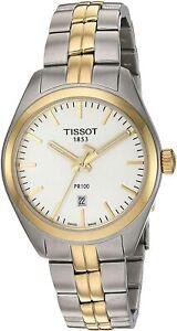 Tissot Swiss Made T-Classic PR100 2 Tone Gold Plated Ladies' Watch T101210220310