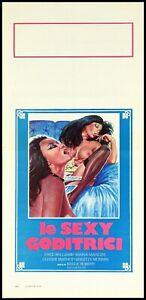 LE SEXY GODITRICI LOCANDINA JESUS FRANCO LINA ROMAY EROTICO 1977 PLAYBILL POSTER