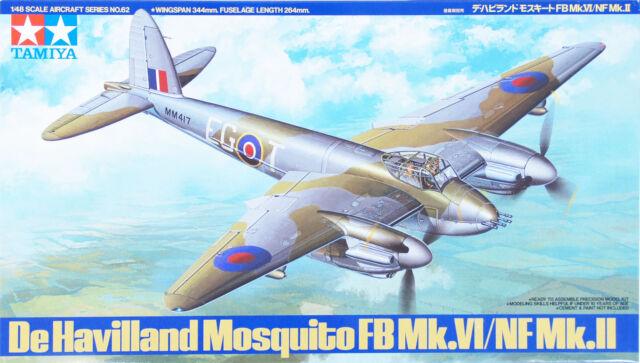 Tamiya 61062 De Havilland Mosquito FB-Mk.VI/ NF Mk.II 1/48 scale kit NZA