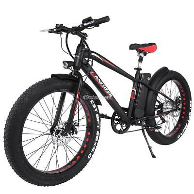 "26"" Electric Bike MTB Mountain Bicycle 250W 36V 6 Speed Gear Snow Fat Tire EBike"