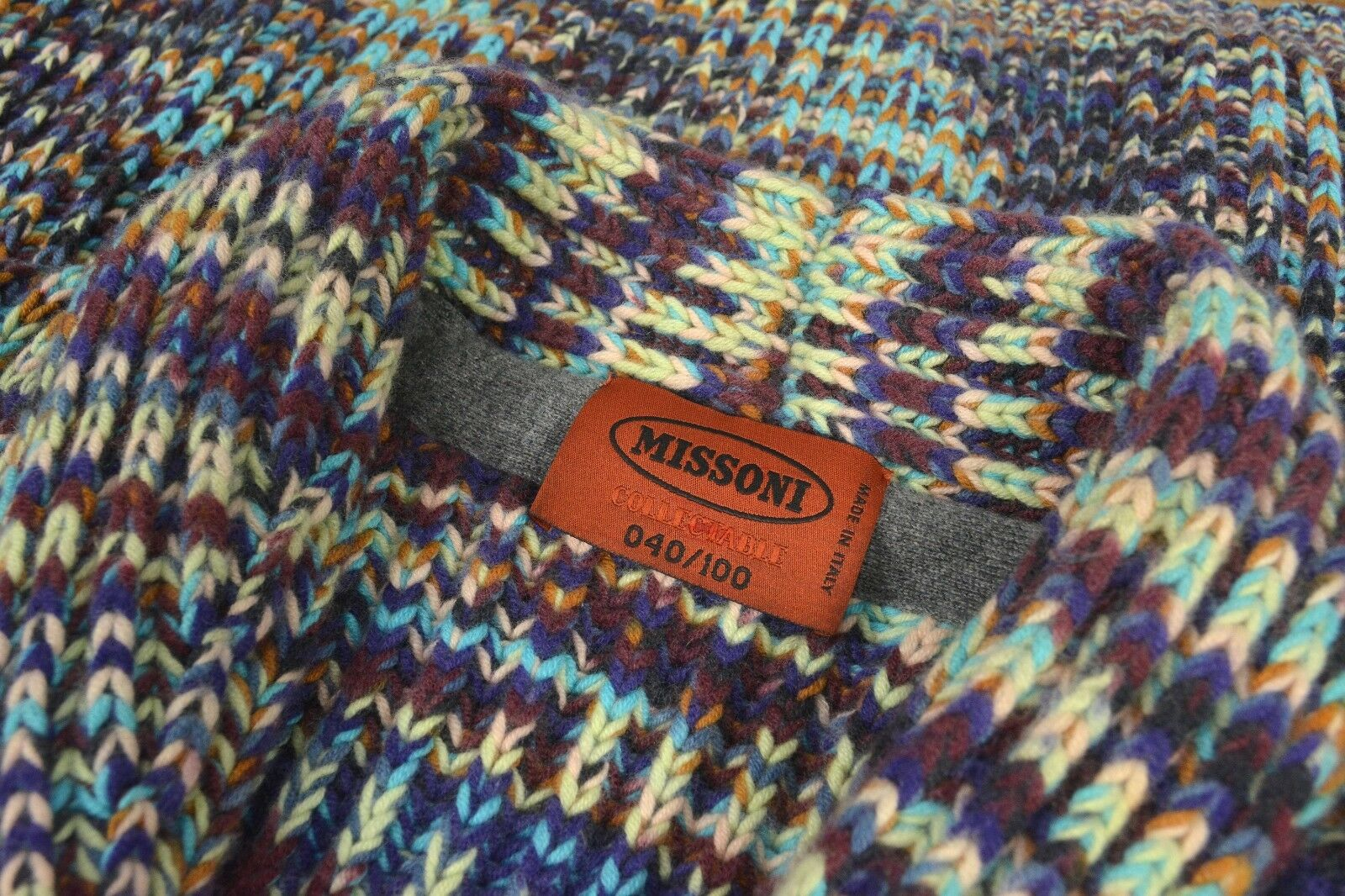 MISSONI COLLECTABLE  040/100  2750  Hand Woven in  CASHMERE Sweater XXL